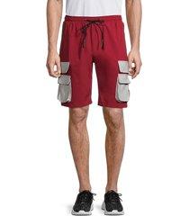 american stitch men's contrast-pocket shorts - olive - size s