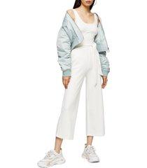 women's topshop sleeveless rib knit jumpsuit
