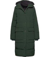 slfjenny down coat b gevoerde lange jas groen selected femme