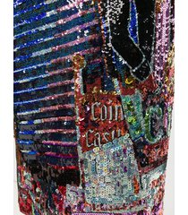 nº21 cowboy sequin pencil skirt - black