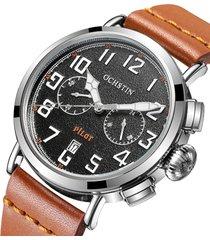 orologi al quarzo con orologio da uomo al quarzo, orologi eleganti con cinturino in pelle