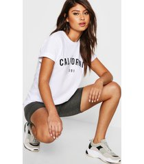 california t-shirt, wit