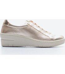 zapato casual mujer freeport z058 dorado