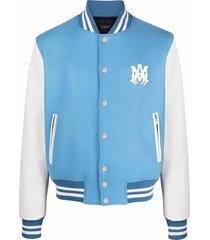 amiri letterman varsity bomber jacket - blue