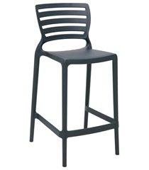 cadeira alta em polipropileno sofia 93,5x48x47cm grafite