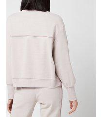 varley women's huston ribbed pique sweatshirt - quail - l