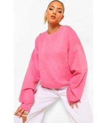 oversized acid wash gebleekte sweater, bright pink