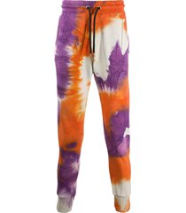 mauna kea tie-dye cotton track trousers - purple