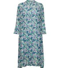elm shirt dress aop 9695 knälång klänning blå samsøe samsøe