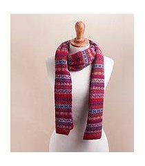 100% alpaca scarf, 'andean appeal' (peru)