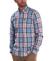 barbour men's sandwood tartan poplin shirt