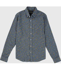 camisa azul navy banana republic