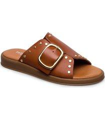 angela shoes summer shoes flat sandals brun pavement
