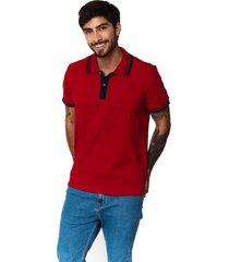 camiseta tipo polo-puntazul-rojo-41431