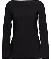 farnetta t-shirts & tops long-sleeved zwart totême