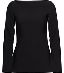 farnetta t-shirts & tops long-sleeved zwart totême