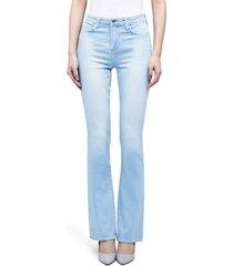women's l'agence oriana high waist straight leg jeans