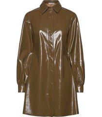 caroli dress 12869 knälång klänning grön samsøe samsøe