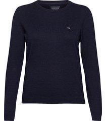 marline organic cotton sweater sweat-shirt trui blauw lexington clothing