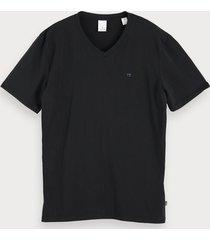 scotch & soda klassiek t-shirt met v-hals