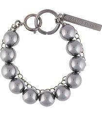 marine serre double layer hybrid bracelet - silver
