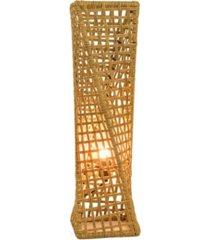 "artiva usa phuket 27"" unique handcrafted twist rattan table lamp"