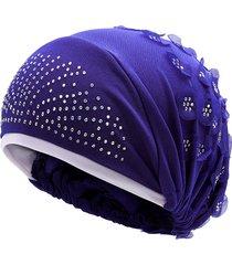 bonnet floreale in cotone respirabile