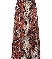 serp lång kjol brun mango