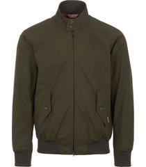 stuarts x baracuta military green g9 harrington jacket - archive fit brcps0421-616
