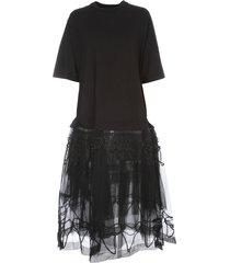 tutu t-shirt dress w/embroidered overlay
