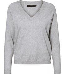 vero moda zachte grijze loose fit trui