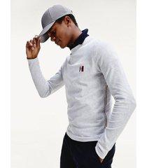 jersey essential con monograma gris tommy hilfiger