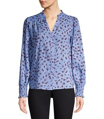 sophie long sleeve button-down blouse