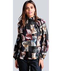 blouse alba moda dennengroen::lichtblauw
