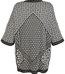 kofta dress in svart::vit