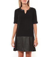 korte jurk vero moda selma 3/4 short dress 97506 noir