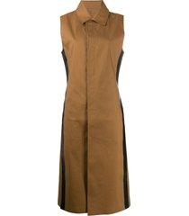 1017 alyx 9sm sleeveless shirt dress - brown