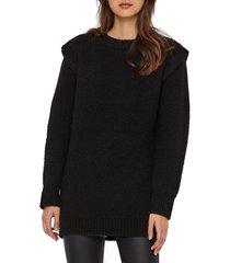 women's vero moda daisy wide shoulder sweater, size small - black
