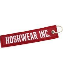 chaveiro bordado hosh wear vermelho