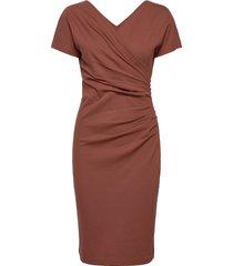 ava ecovero dress knälång klänning röd residus