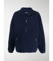 balenciaga zip-up fleece jacket