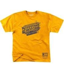 mitchell & ness golden state warriors men's trolley t-shirt