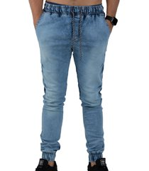 calça rioutlet jogger jeans azul
