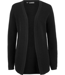 cardigan a costine (nero) - bpc bonprix collection