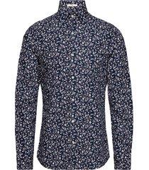 g2. alpine flower hero slim point overhemd business blauw gant