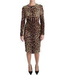 leopard bodycon zijden jurk