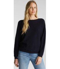 sweater mujer texturado azul marino esprit
