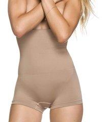 calcinha modeladora zee rucci boxer alta sem costura pele