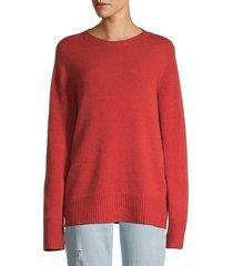 crewneck wool & cashmere-blend sweater