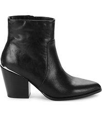 dolly leather block heel booties
